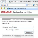 Oracle XE apex login